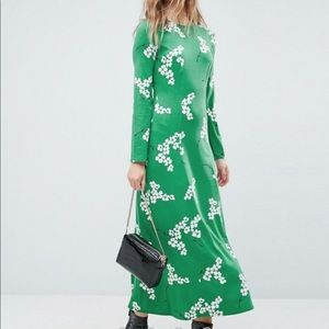 ASOS Maxi Tea Floral Dress With Open Back